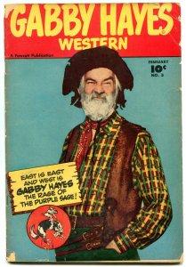 GABBY HAYES WESTERN #3 PHOTO COVERS 1949 FAWCETT B-WEST VG