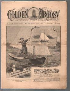 Golden Argosy #244 8/6/1887-Munsey-Argosy precursor-Oliver Optic-VG