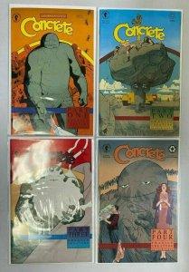 Concrete Fragile Creature set #1-4 all 4 different books D.H. 8.0 VF (1991-'92)