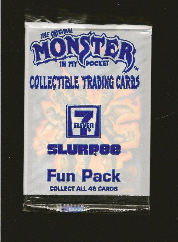 The ORIGINAL MONSTER IN MY POCKET 7-Eleven 1991 Morrison Unopen Pack of 3 Cards