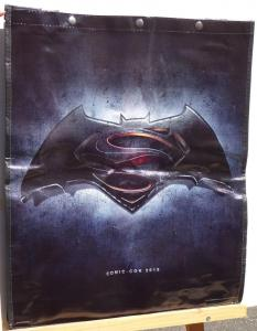 BATMAN SUPERMAN SDCC BAG, with cape, Tote, Swag,2015,19x23,San Diego Comic Con