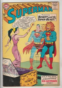 Superman #165 (Nov-63) FN/VF+ High-Grade Superman, Jimmy Olsen,Lois Lane, Lan...