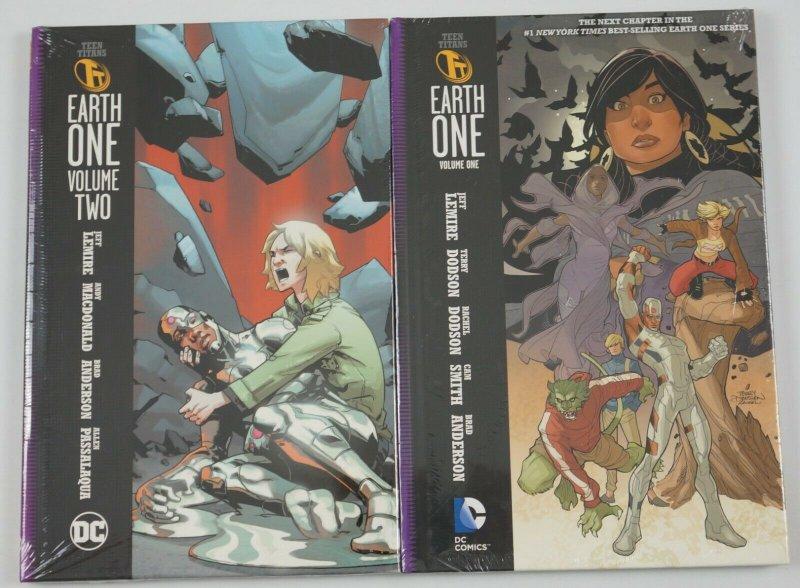 Teen Titans: Earth One OGN #1-2 HC VF/NM DC comics jeff lemire terry dodson 1st