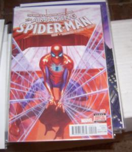 Amazing Spider-Man #  2( 2015 Marvel)  alex ross cover  SILK +SPIDERWOMAN +2099