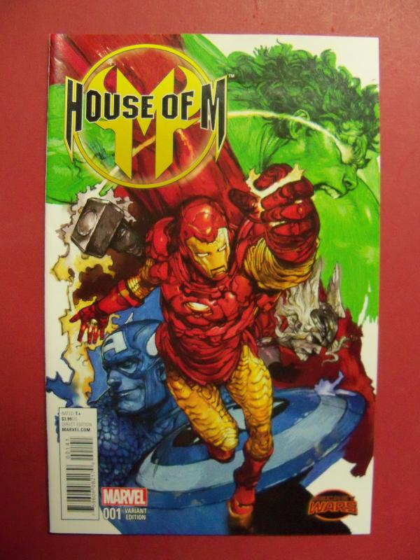 HOUSE OF M, SECRET WARS #1,    VARIANT COVER, MARVEL