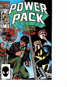 Lot Of 6 Power Pack Marvel Comic Books #21 22 23 27 28 29 AK5