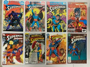Superman Annuals Comic Lot 15 Different Books 80 VF
