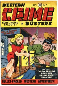 WESTERN CRIME BUSTERS #7-1951--WALLY WOOD STORY ART   K-BAR-KATE APPEARS