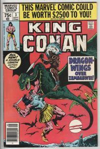 King Conan #3 (Sep-80) NM- High-Grade Conan the Barbarian