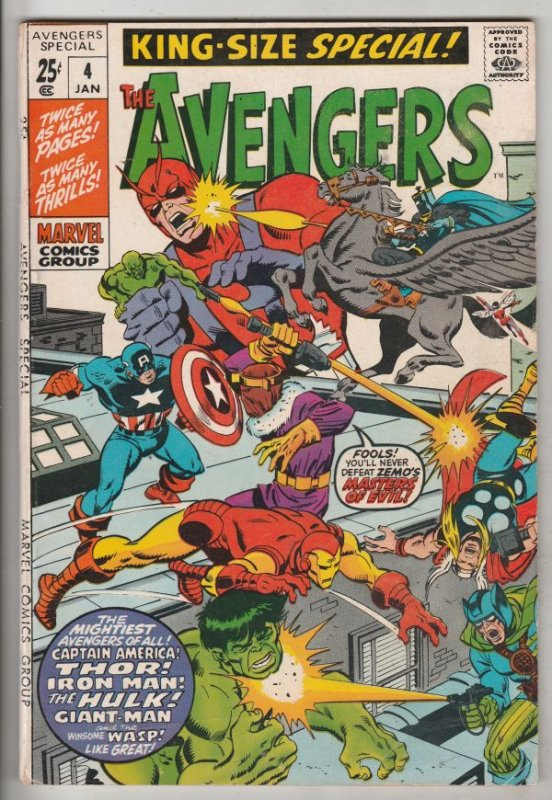 Avengers, the King-Size Annual #4 (May-71) VF/NM High-Grade Avengers
