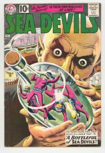 SEA DEVILS #2 GREYTONE COVER .1961. NEAT SCUBA ISSUE NICE FN+