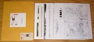 Dave Devries Illustration Samples with envelope -  lobo venom doom patrol