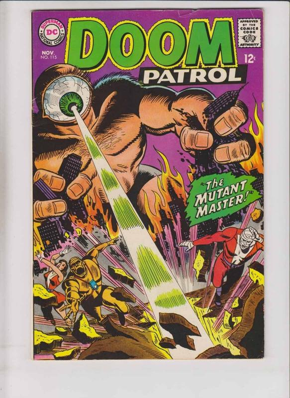 Doom Patrol #115 FN- november 1967 - the mutant master - silver age dc comics