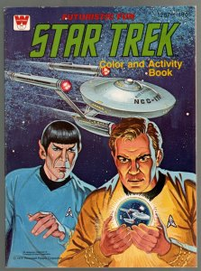 Star Trek Color and Activity Book #1257-1 1979-Spock-Kirk-games-puzzles-VF