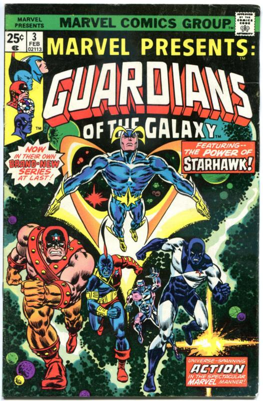 MARVEL PRESENTS #3, VG, Guardians of the Galaxy, 1975, more Bronze in store