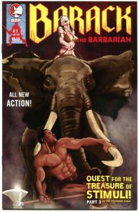BARACK the BARBARIAN #3, NM-, President, Sarah Palin, 2009, Conan parody