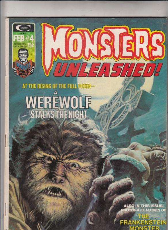 Monsters Unleashed Magazine #4 (Feb-74) VF/NM High-Grade