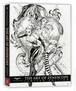 THE ART OF ZENESCOPE LIMITED EDITION SLIPCASED HARDCOVER VOL.1 W/ART PRINT.