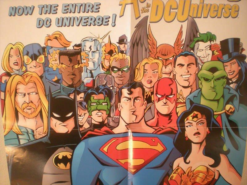 ADVENTURES in the DC Universe promo poster, 1997, Unused, Superman, Batman