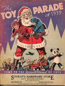 Toy Parade of 1939-Glen Ellyn IL-Christmas Toys-Santa-Lionel-Marx-VG