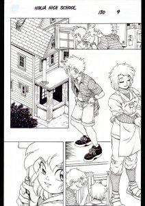 Ninja High School #130 Page 9 Original Comic Book Art - Ben Dunn