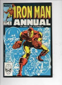 IRON MAN #6  Annual, VF/NM, Eternals, Marvel, 1968 1983, more IM in store