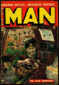 Man Comics #16 1952- Joe Maneely cover- Commies- War- Gyrenes G+