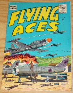 Flying Aces #5 FN- may 1956 - silver age medal comics - war
