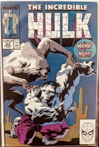 The Incredible Hulk #362 (1989) WEREWOLF BY NIGHT APP! RARE! VF