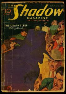 The Shadow Pulp October 15 1934- Death Sleep- Maxwell Grant reading copy