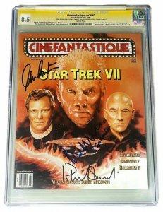 CINEFANTASTIQUE #2 CGC 8.5 STAR TREK VII SIGNED WILLIAM SHATNER STEWART MCDOWELL