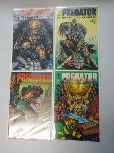 Predator Big Game set #1-4 8.0 VF (1991 Dark Horse)
