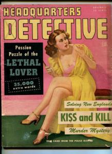 HEADQUARTERS DETECTIVE-NOV 1947-HILLMAN-SPICY GOOD GIRL ART-PULP-BRUTALITY-good