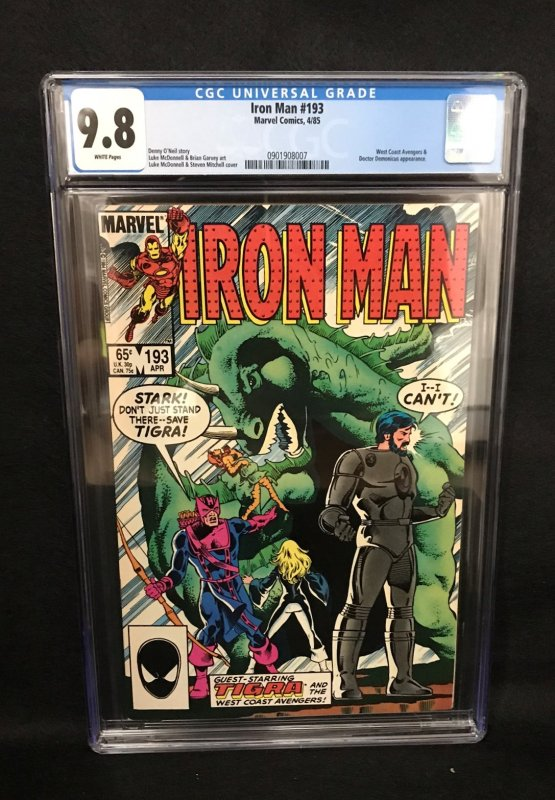 Iron Man #193 (Marvel, 1985) CGC 9.8 - Highest Graded!