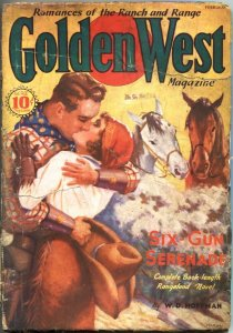 GOLDEN WEST PULP #3-FEB 1937-SPICY GIRL ART-SCARCE-ACE PUBS