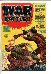 WAR BATTLES #1-1951-NAVY FROGMEN-ELIAS COVER SOUTHERN STATES PEDIGREE-fn+