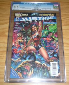 Justice League #3 CGC 8.5 combo-pack variant - geoff johns - jim lee - dc new 52