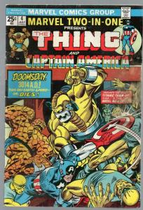 MARVEL TWO IN ONE 4 G-VG July 1974 Gaptain America