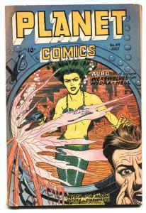 Planet #49 -1947-Fiction House-MERMAID COVER-Golden-Age-Comic book