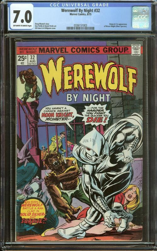 Werewolf By Night 32 CGC 7.0   Origin & 1st Moon Knight
