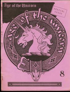 AGE OF THE UNICORN #8-1980-FANZINE-SPIDER-PULPS-RARE- FN