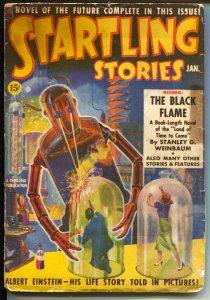 Startling Stories #1 1/1939-1st issue-robot cover-Einstein-Otto & Eando Binder-G