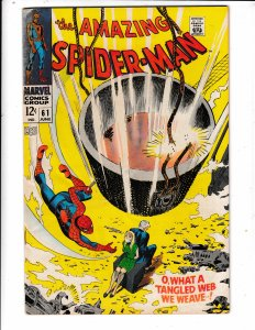 THE AMAZING SPIDERMAN #61  FN/VG  1st GWEN STACEY COVER Save on shipping