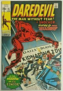 DAREDEVIL#75 FN/VF 1971 MARVEL BRONZE AGE COMICS