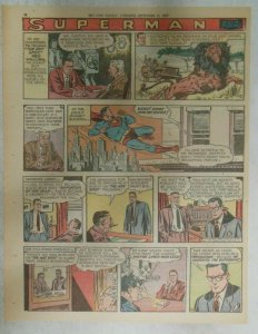 Superman Sunday Page #933 by Wayne Boring from 9/15/1957 Size ~11 x 15 inches