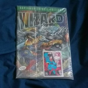 Wizard Superman Tribute Edition-Factory Sealed W/ collector card-1st Edition!