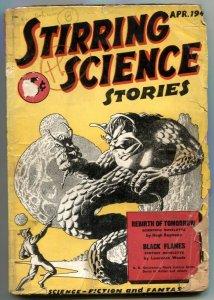 Stirring Science Stories Pulp #2 1941-Hannes Bok- Black Flames