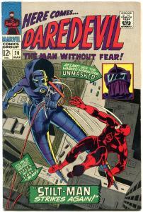 DAREDEVIL #26 1967-MARVEL-GENE COLAN ART-STILT-MAN- FN+