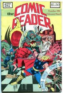 COMIC READER #199, VF, Thor, Odin, Mike Mignola, Fanzine, 1982, more in store