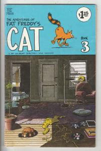 Adventures of Fat Freddy's Cat, The #3 (Jan-77) FN+ Mid-Grade Freddy's Cat, t...